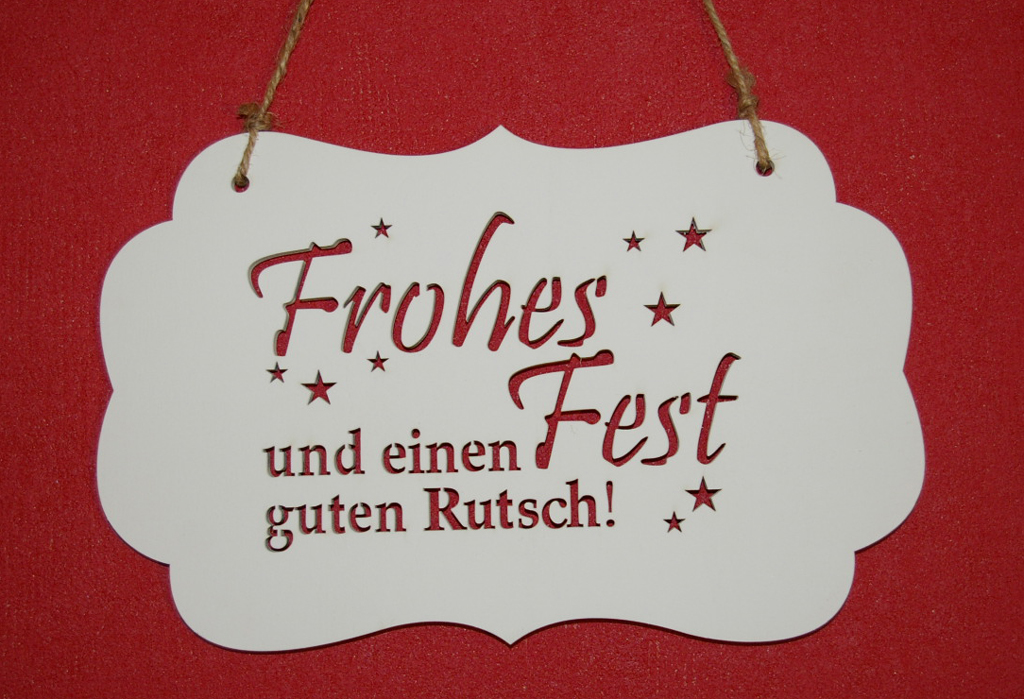 "Holzschild ""Frohes Fest"""